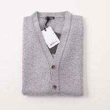d40e7dbdc2ebf NWT  1995 KITON Light Gray Regal Cashmere Cardigan Sweater Vest M (Eu 50)