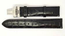 New 20mm Genuine Leather Deployment Watch Strap Band Bracelet For TISSOT BLACK