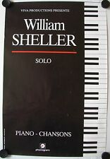 Affiche Concert WILLIAM SHELLER Piano Chansons