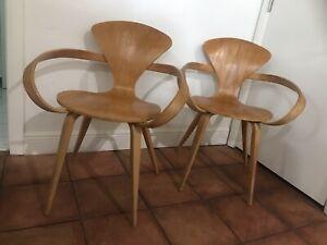 Pair Of Plycraft Cherner Mid Century Pretzel Chairs