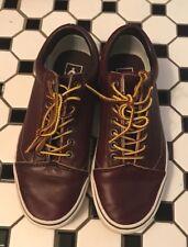 Vans Size 7 Men's Old Skool Sneakers  Burgundy Leather