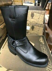 Prexport 230 WP Custom Black Leather Waterproof Cruiser Motorcycle Boots New