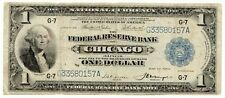 Fr.728 1918 $1 Federal Reserve Note, Rare, Large Size, Blue Seal [3830.17]
