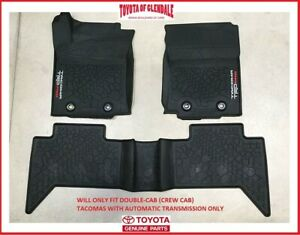 2016-2021 TOYOTA TACOMA TRD PRO ALL WEATHER/RUBBER FLOOR MAT AUTO TRANSMISSION
