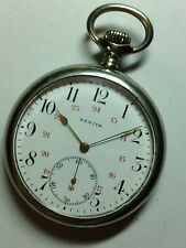 Montre zenith Acier Micro Regulateur 49mm Military Dial Pocket Watch