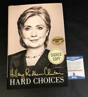 HILLARY CLINTON SIGNED BOOK HARD CHOICES AUTOGRAPH BECKETT BAS COA 2