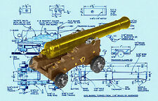 BUILD A MODEL 18 POUND CANNON Full Size Printed PLANS & Building Article