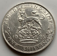 1926 SHILLING - GEORGE V BRITISH SILVER COIN - V. HIGH GRADE