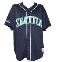 Majestic Men's Baseball Jersey Seattle Mariners MLB Spellout Vintage 90's