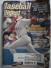 Juan Gonzalez -Top Rookies for '99 AL & NL Baseball Digest Magazine March 1999