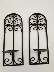 Black Sconces Wall Candle Holders