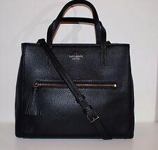 kate spade spencer court tera leather satchel tote crossbody shoulder bag black