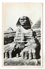 The Excavated Sphinx - Egypt Real Photo Postcard 1959