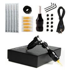 Rotary Tattoo Machine Kits CNC Aluminum Tattoo Shader Liner with Cord Grip Black