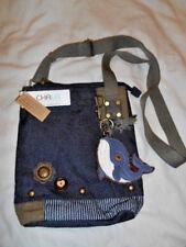 New With Tags Chala Handbag Patch Cross-body WHALE Denim Grayish/Blue Bag