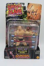 Autographed WCW Smash 'N Slam Wrestlers Bill Goldberg w/ Masked Wrestler ToyBiz
