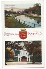 Greetings from Enfield, Old Multiview Postcard by E. Gordon Smith, Unused