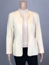 Women's Armani Collezioni Off White Cotton Open Front Blazer Jacket SZ 6 $1200