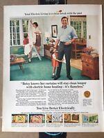 10x13 1967 MCM Total Electric Living Edison Electric Inst Vintage Magazine Ad
