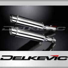 """Honda CB1300DC X-4 14"""" Stainless Round Muffler Slip On Exhaust 97-99 00 01 02 03"""