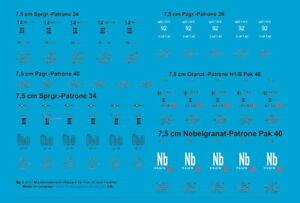 Peddinghaus Decals 1/6 3777 Munitionsbeschriftungen für Pak 40 und Panther