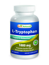 Best Naturals L-Tryptophan 1000 mg 60 Tab Supports Relaxation and Restful Sleep