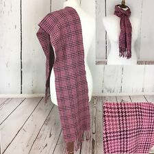 Cashmere Wool Blend Long Scarf Purple Print Talbots