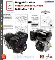 Briggs Stratton Engine 13 16 H P 302431 Thr 326437 Wards Tractor Owners Manual Ebay