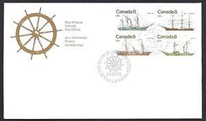 Canada  # 670 - 673 Block B  COASTAL VESSELS   Used 1975 Unaddressed Issue