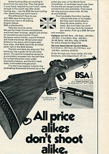 1971 Print Ad of JL Galef BSA De-Luxe Hunting Rifle