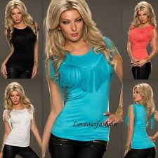 Cotton Party Fitted Tops & Shirts for Women