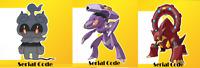 Pokemon Serial code - Genesect Volcanion Marshadow Sword & Shield Region free