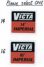 Victa Imperial Vintage Cylinder Mower Kirby Repro Tank Decals