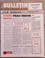 LE FILM FRANCAIS Cinématographie Française BULLETIN FESTIVAL DE CANNES 1969 *