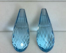 45.50Ct Wow!! Beautiful Briolette Pair Blue Topaz  From Africa !!