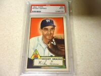 1952 TOPPS MICKEY GRASSO PSA GRADED 5 EX WASHINGTON SENATORS NICE COLORS