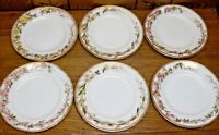 6 Antique George Jones Stoke Staffordshire England Porcelain Floral Plates 7.25""