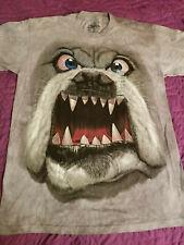 The Mountain Tie Dye Dog shirt size Medium M Comedy RARE Funny Pet Bulldog