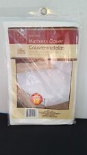Twin Mattress Waterproof  Cover White Vinyl Protects from -Moisture Stain