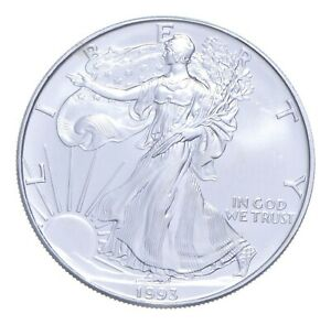 Better Date 1993 American Silver Eagle 1 Troy Oz .999 Fine Silver *117