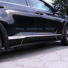 New Stainless Steel Body Door Side Molding Trim For Toyota Highlander 2014-2017