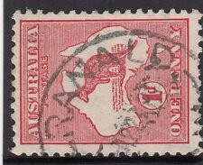 Scarce Kangaroo stamp Australia 1d red die 1 watermark sideways pointing right