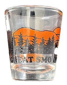 Vtg Great Smoky Mountains Shot Glass Souvenir
