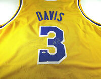ANTHONY DAVIS / AUTOGRAPHED LOS ANGELES LAKERS YELLOW CUSTOM JERSEY / COA