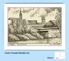 CP AQ 68242 CARTE POSTALE DESSIN 68 REGUISHEIM