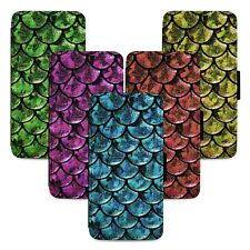 Mermaid Scales Patterns Flip Phone Case Cover Wallet - Fits Iphone 5 6 7 8 X 11