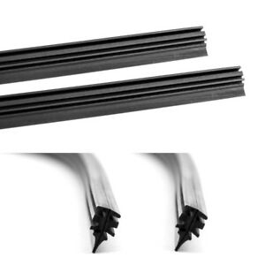 """Auto Windshield Wiper Blade Refill Frame Less 2 PCs 22""""& 28"""" 6 mm Replace Rubber"""