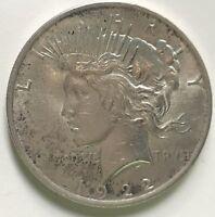 1922 HIGH GRADE AU / BU  Peace Silver Dollar    #932