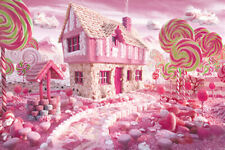 1000 Pieces Adult Puzzle Fairytale Pink Candy World Jigsaw Educational Toys Gift