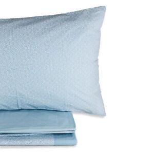 Completo lenzuola in cotone stampato letto matrimoniale Gabel 2 piazze 3082